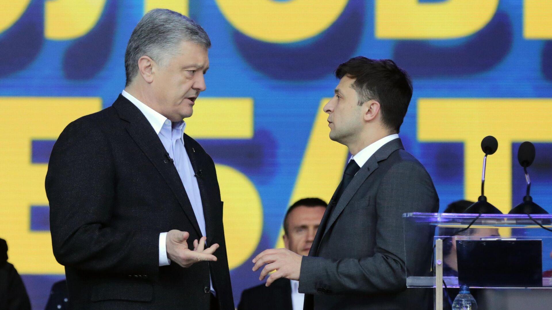 Дебаты кандидатов в президенты Украины Петра Порошенко и Владимира Зеленского - РИА Новости, 1920, 22.02.2021