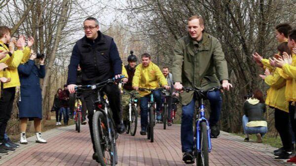 Велосубботник в Москве