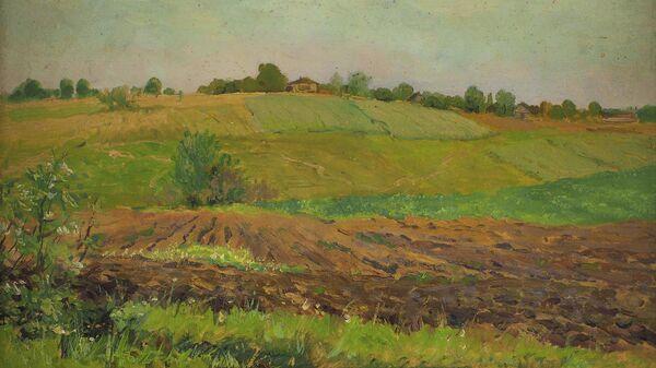 Картина Исаака Левитана Летний пейзаж. Пашня. Конец 1880-х—1890-е