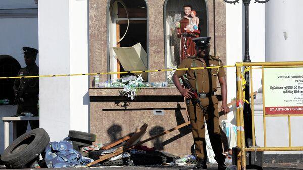 Место взрыва в католической церкви Святого Себастьяна в Негомбо, Шри-Ланка. 22 апреля 2019