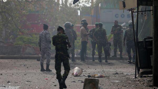 Место взрыва в Коломбо, Шри-Ланка. 22 апреля 2019