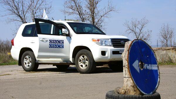 Автомобиль наблюдателей ОБСЕ