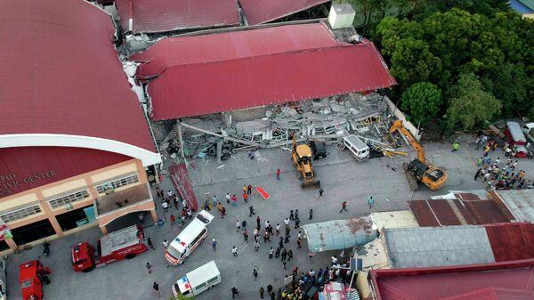 Ликвидация последствий землетрясения в городе Порак на Филиппинах. 23 апреля 2019