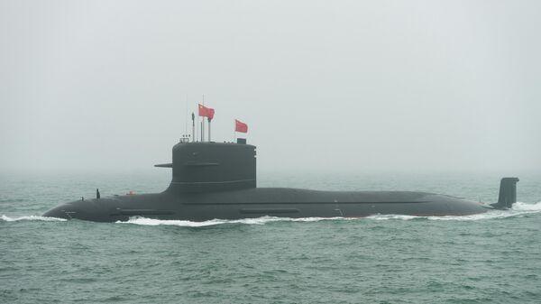 Новая атомная подлодка проекта 094 Цзинь, впервые представленная публике на военном параде в Циндао. 23 апреля 2019