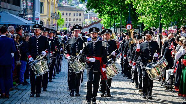 Марширующий оркестр Стрёмгодсет из Норвегии, который впервые примет участие в Фестивале Спасская башня в Москве