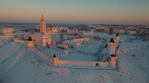 Вид Тобольского кремля с воздуха