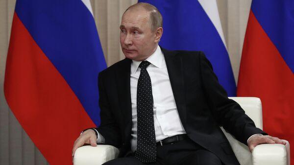 Путин на переговорах с Ким Чен Ыном во Владивостоке