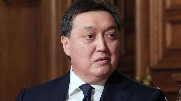 Премьер-министр Республики Казахстан Аскар Мамин