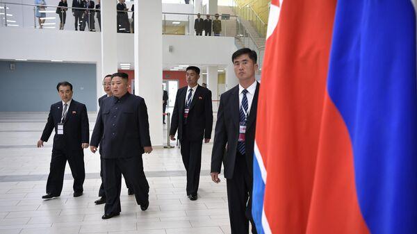 Председатель Госсовета Корейской Народно-Демократической Республики Ким Чен Ын во Владивостоке