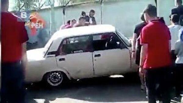 В Орле во время автошоу машина въехала в зрителей