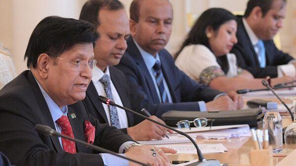 Министр иностранных дел Бангладеша Абдулкалам Абдул Момен во время встречи в Москве с министром иностранных дел РФ Сергеем Лавровым. 29 апреля 2019