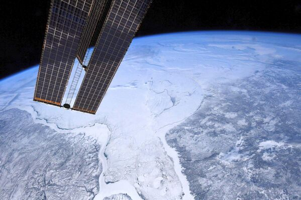 Гудзонов залив с борта МКС