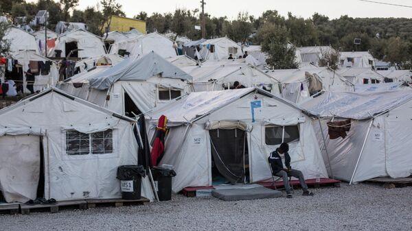 Лагерь беженцев Мориа в Греции