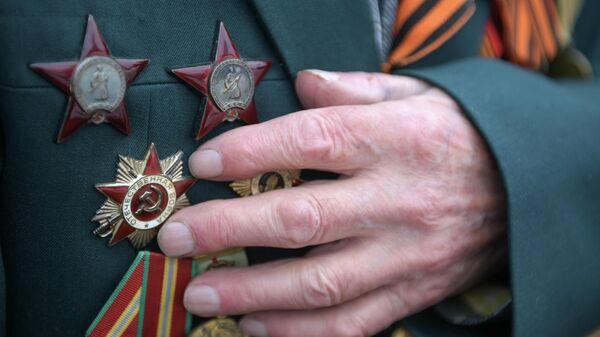 Ордена на груди ветерана Великой Отечественной войны