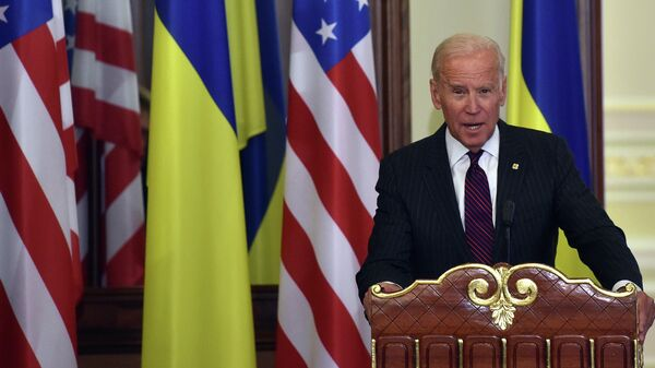 Вице-президент США Джо Байден во время визита в Киев