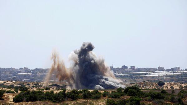 Взрывы в секторе Газа после ударов Израиля. 4 мая 2019