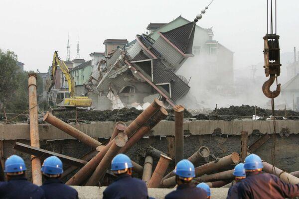 Обрушение туннеля произошло в Китае