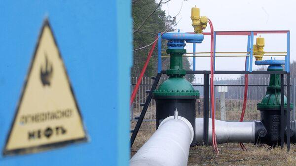 Участок нефтепровода Дружба в Мозырском районе Белоруссии