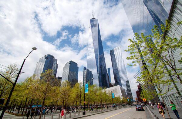 Здание World Trade Centre (Всемирный торговый центр) в Нью-Йорке