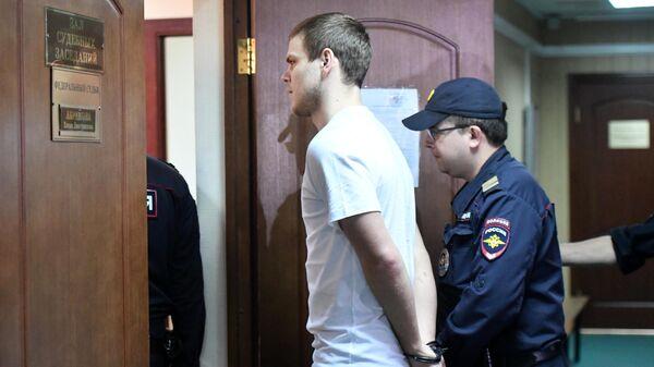 Футболист Александр Кокорин в суде. 8 мая 2019