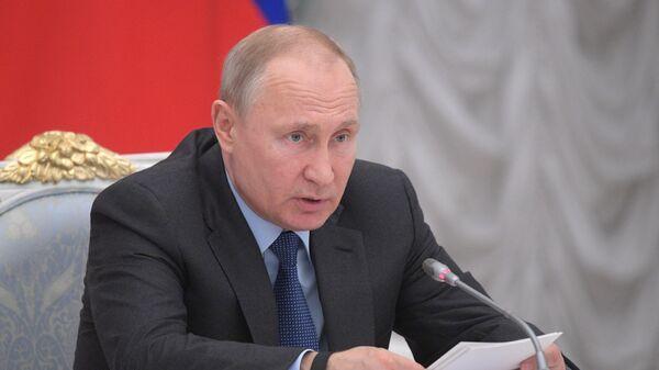 Владимир Путин проводит заседание совета при президенте РФ по стратегическому развитию и национальным проектам