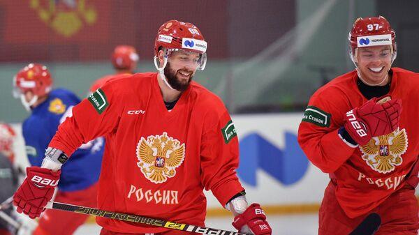 Хоккей. Тренировка сборной России