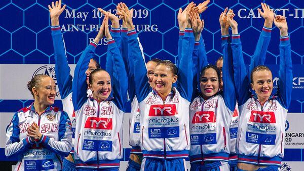 Спортсменки сборной России