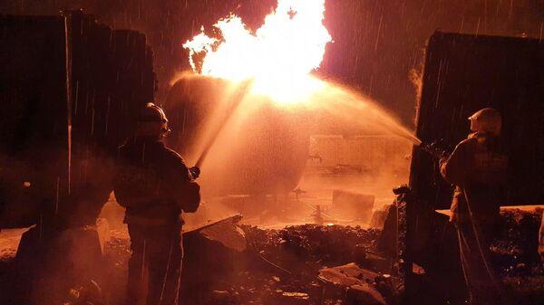 Пожар в чеченском селе Ножай-Юрт. 10 мая 2019