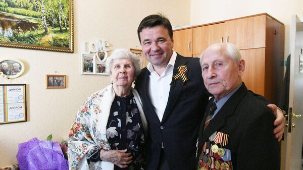 Глава Подмосковья поздравил с Днем Победы ветеранов в пансионате в Ногинске