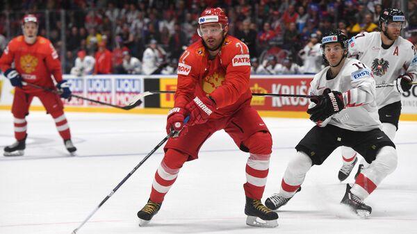 Игрок сборной России Илья Ковальчук