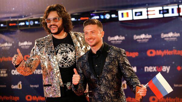 Сергей Лазарев и Филипп Киркоров на оранжевой дорожке Евровидения в Тель-Авиве, Израиль. 12 мая 2019