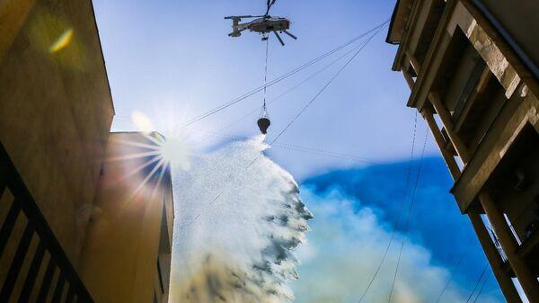 Тушение пожара вертолетом