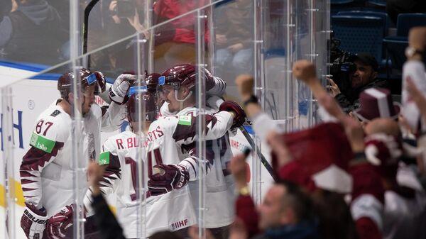 Сборная Латвии победила команду Италии в матче чемпионата мира по хоккею