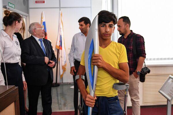 Касим Алькадим в музее паралимпийского движения в Москве