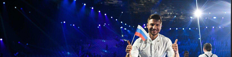 Певец Сергей Лазарев (Россия) после окончания второго полуфинала международного конкурса Евровидение-2019