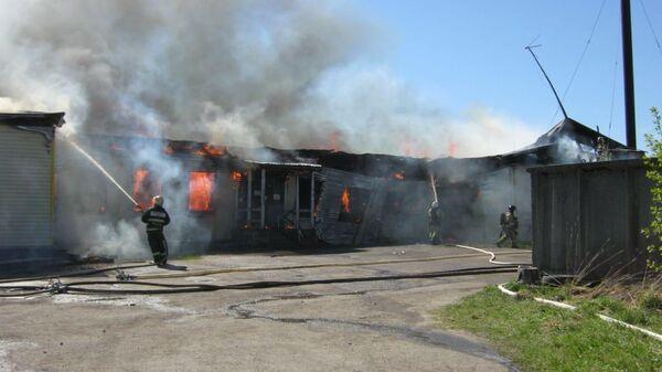 Пожар в больнице в Прионежском районе Карелии. 17 мая 2019