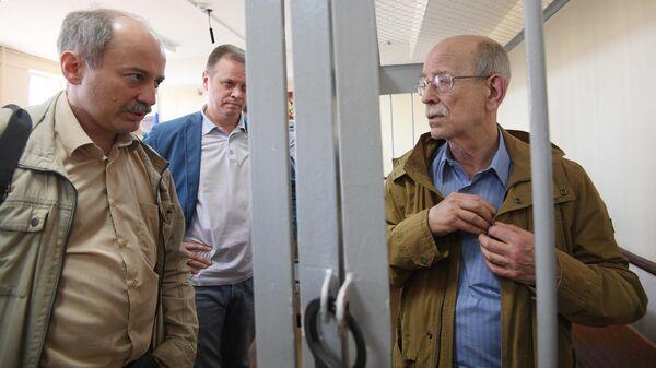 Бывший сотрудник ЦНИИмаш Виктор Кудрявцев, обвиняемый в государственной измене, в Лефортовском суде