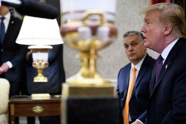 Президент США Дональд Трамп и премьер-министр Венгрии Виктор Орбан во время встречи в Вашингтоне. 13 мая 2019