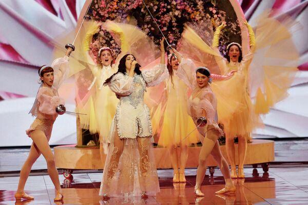 Певица Катерина Дуска (Греция) в финале международного конкурса Евровидение-2019