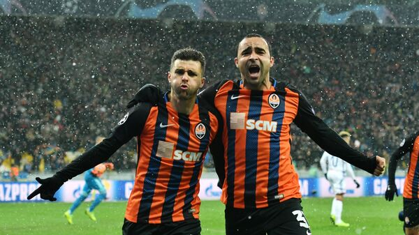 Футболисты донецкого Шахтера