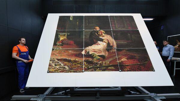 Реставрация картины Иван Грозный и сын его Иван 16 ноября 1581 года русского художника Ильи Репина