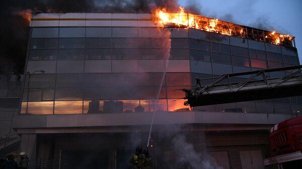 Пожар в автоцентре Hyundai в Кемерове