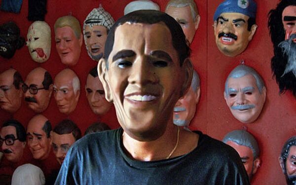 Маска Барака Обамы. Архив
