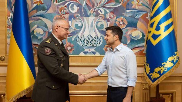 Президент Украины Владимир Зеленский и Руслан Хомчак