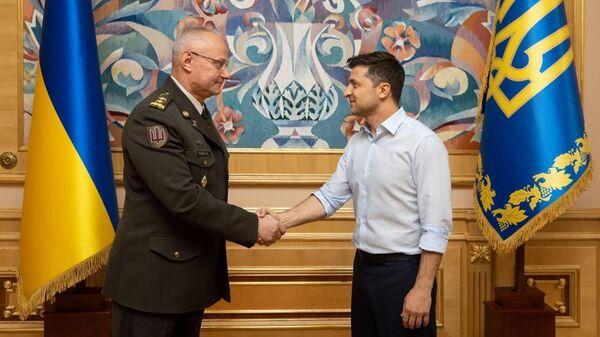 Президент Украины Владимир Зеленский и начальник Генерального штаба ВС Руслан Хомчак