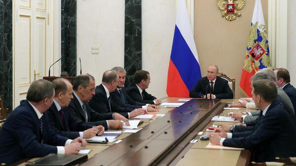 Президент РФ Владимир Путин провел заседание Совбеза РФ. 24 мая 2019