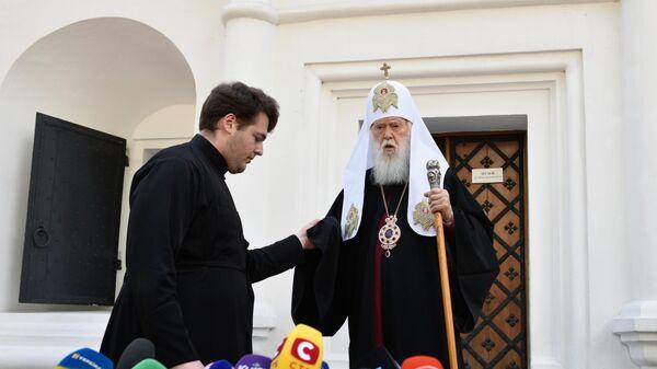 Филарет Денисенко после заседания Синода Украинской православной церкви