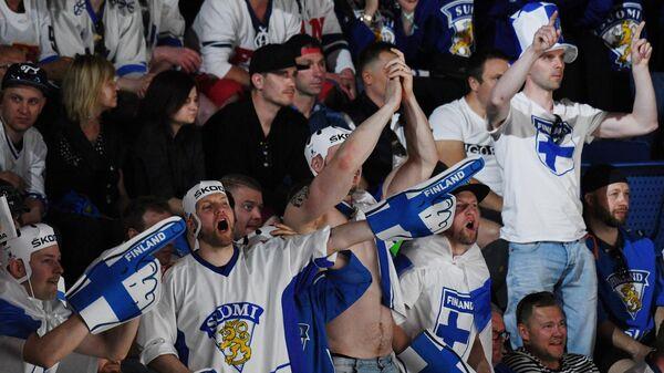 Болельщики сборной Финляндии