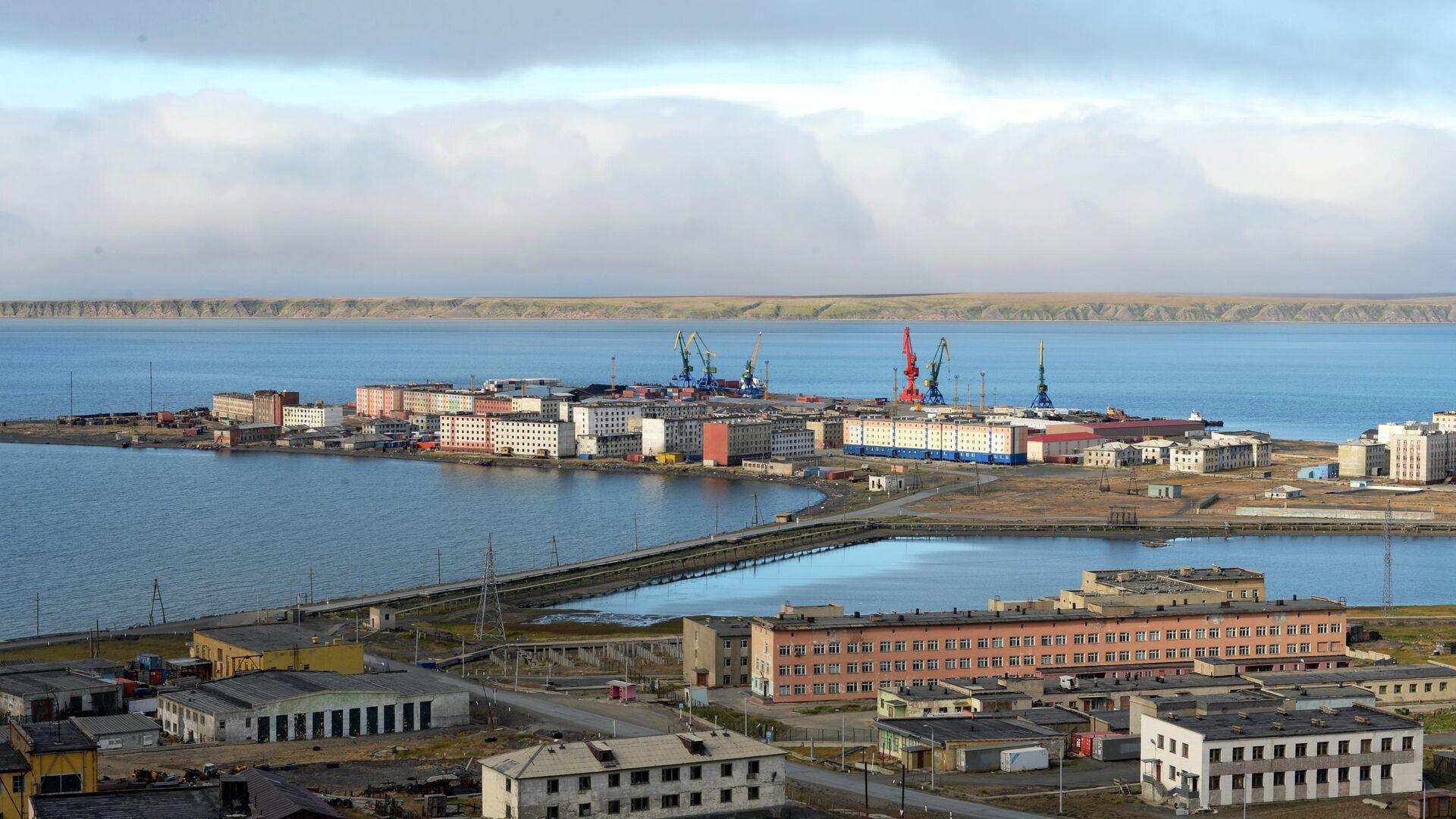 Вид на Морской порт города Певек - РИА Новости, 1920, 05.04.2021