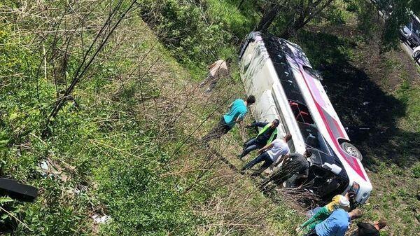 Последствия ДТП с участием автобуса В Приморье. 28 мая 2019